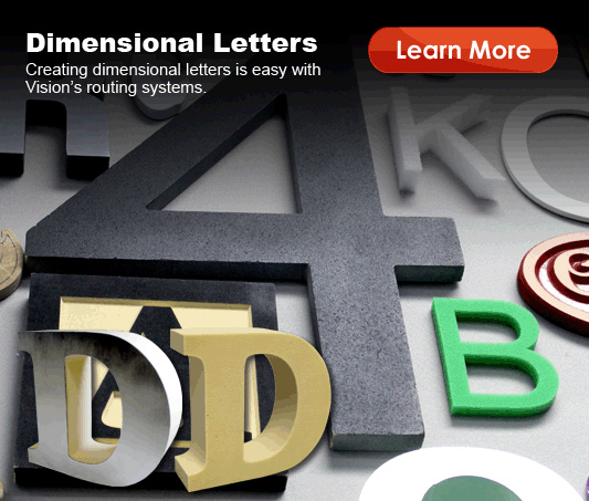 Make Dimensional Letters with Vision