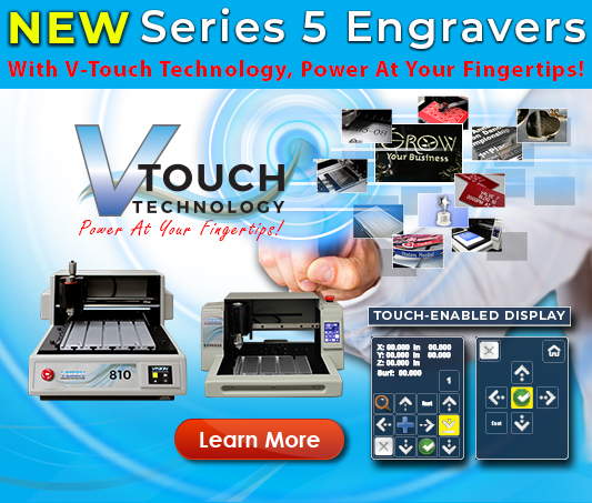 NEW Series 5 Small Engraving Machine with V-Touch Engraving Technology