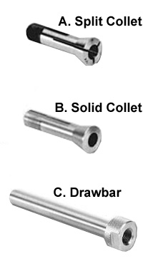 Drawbar and Collets for Engraving Machine